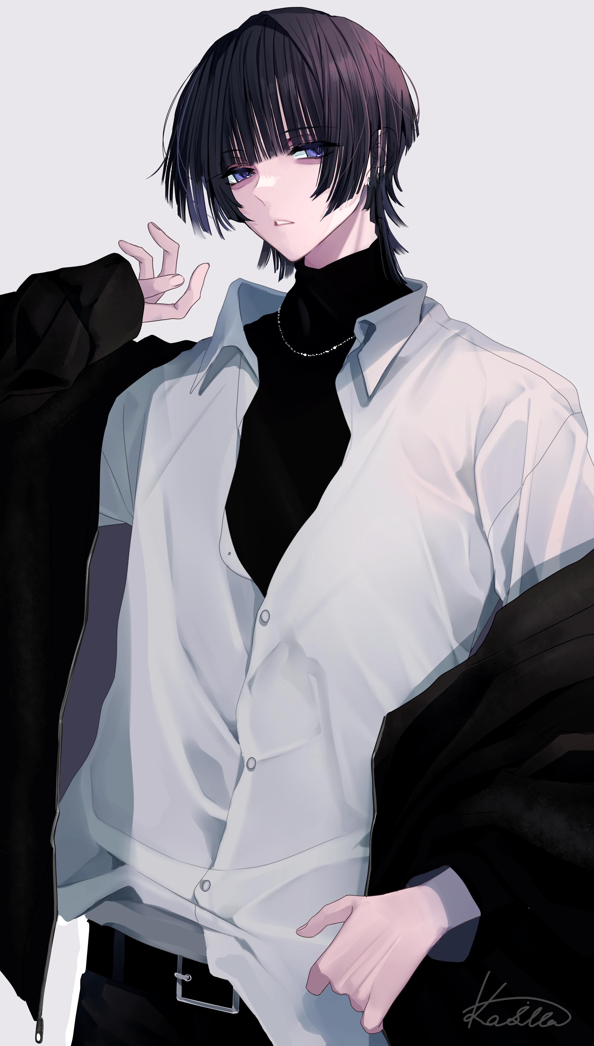 姫カット男子